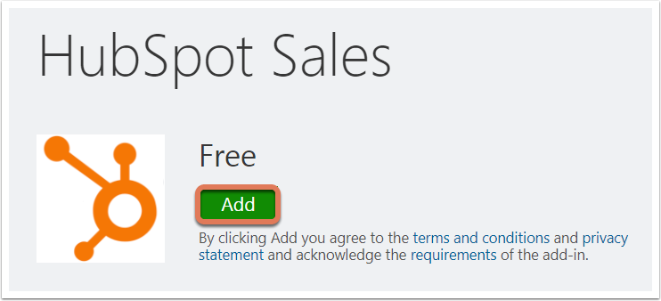 Hubspot Sales Add