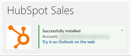 Hubspot Sales Successfully Installed
